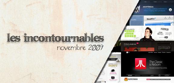 Les incontournables Novembre 2009