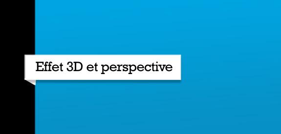 3D et perspective