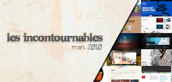 Incontournable mars  2010