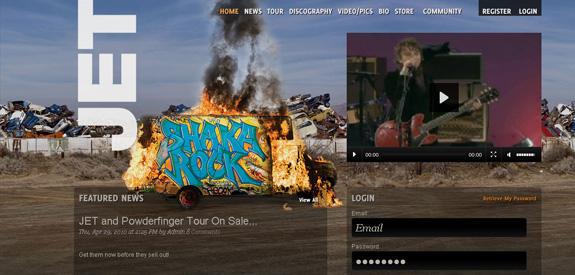 Webdesign musique