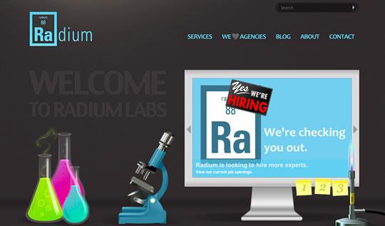 Radium - bonne intégration du slider dans le design