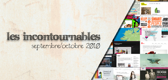 Webdesign Incontournable Octobre 2010