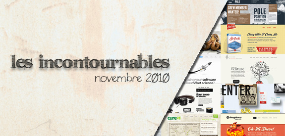 Les incontournables Novembre 2010