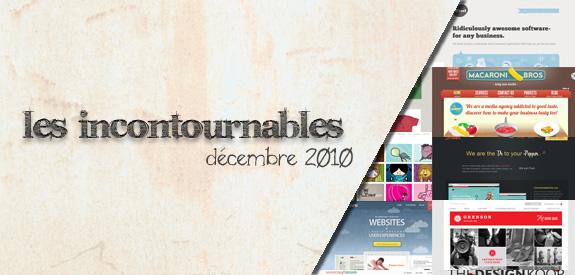 Les sites web incontournables de décembre 2010