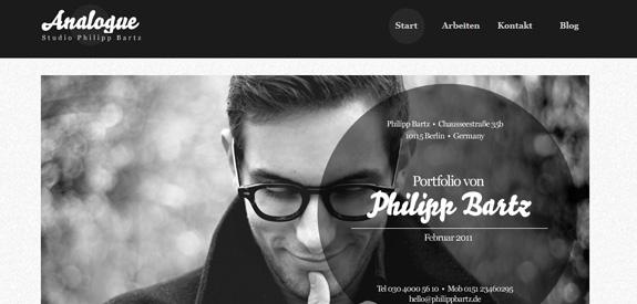 exemple de site internet design