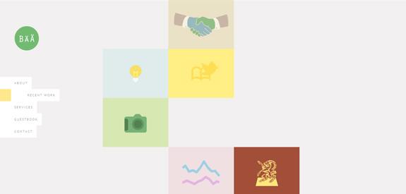 Tendance du webdesign - Barre latérale
