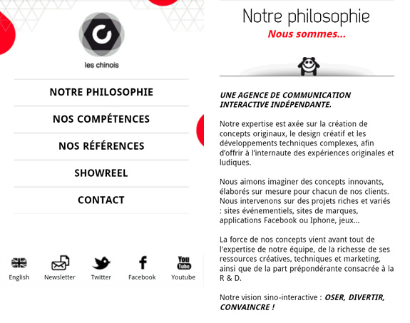 Les Chinois - Site Mobile