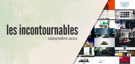 Webdesign incontournable novembre 2011