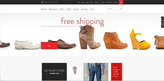 E-commerce Webdesign