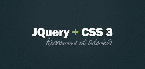 Tutoriels et ressources CSS3