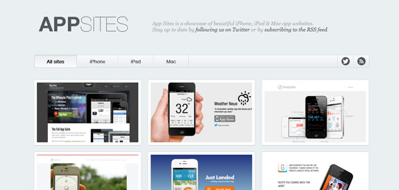 App Sites Mobile inspiration