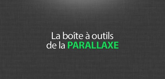 La boite à outils de la parallaxe