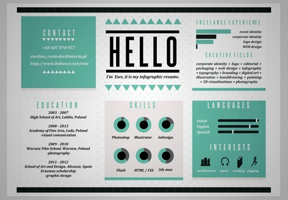 cv infographiste design graphique and design t