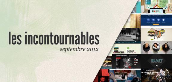 Les incontournables de septembre 2012