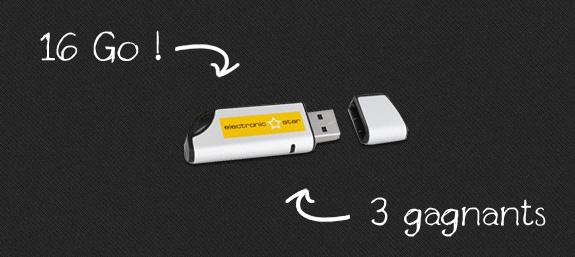 Concours : gagnez des clés USB de 16Go