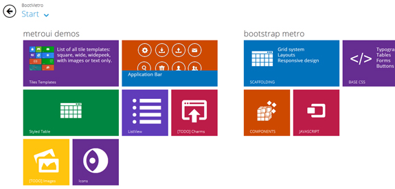 Ressources webdesign Metro