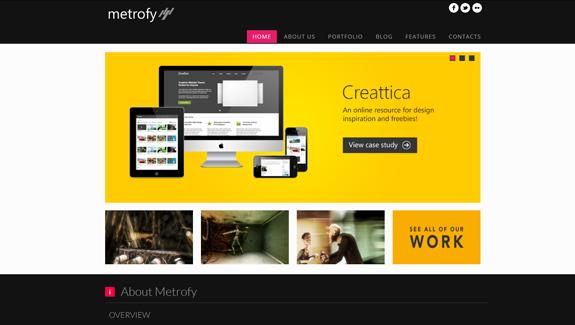Tendance du webdesign Metro