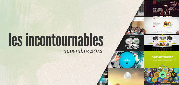 Webdesign inspiration novembre
