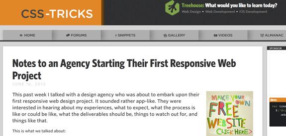Responsive CSS Tricks