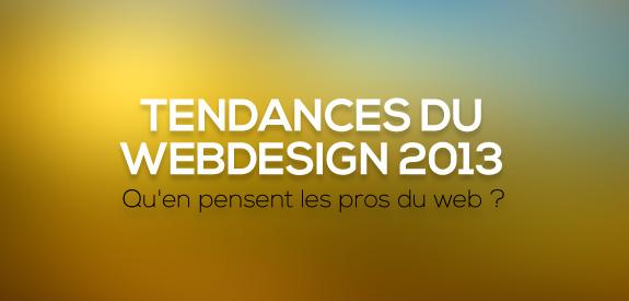 Tendance du webdesign 2013