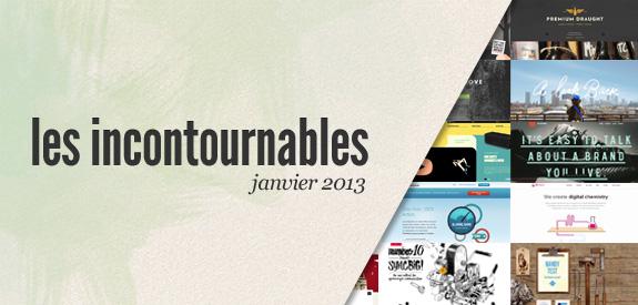 Webdesign tendances janvier