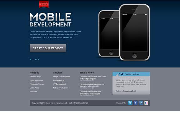 PSD webdesign gratuit