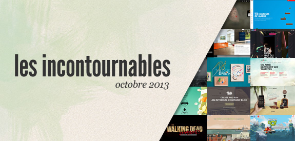 Webdesign inspiration octobre 2013