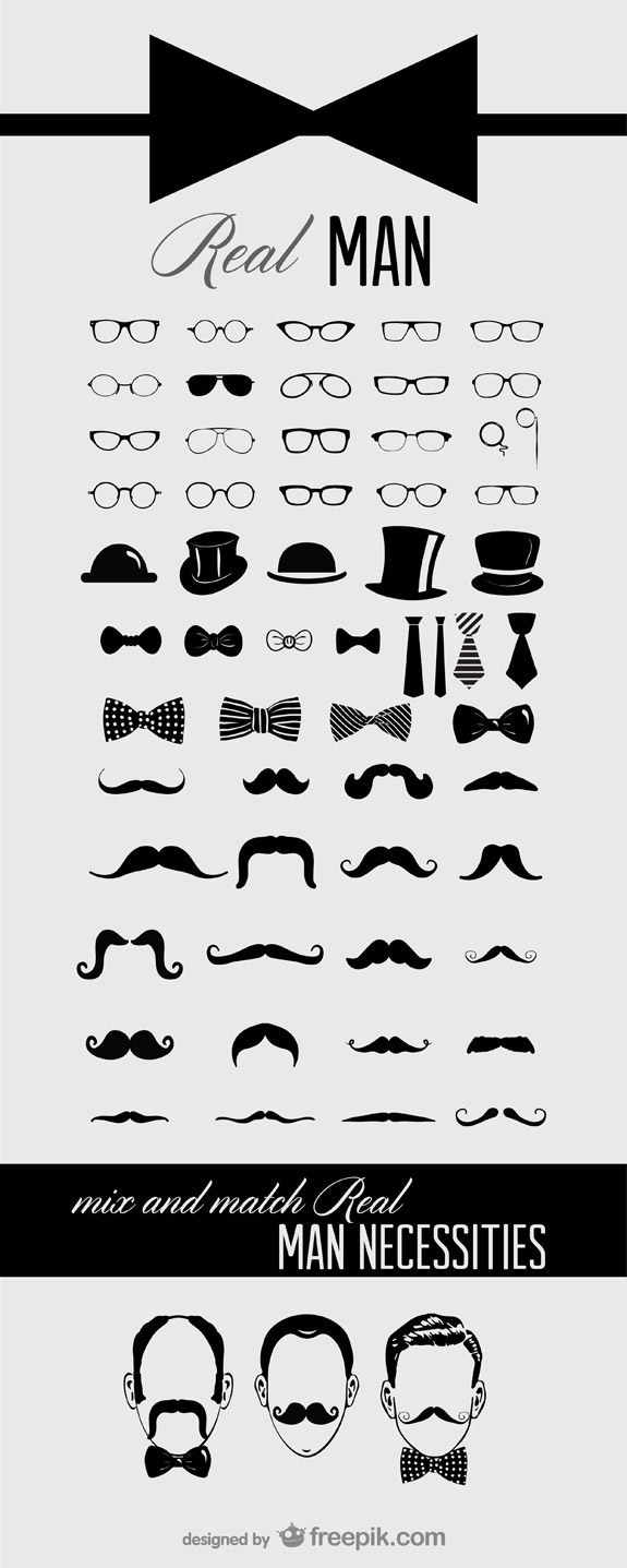 Icones moustaches