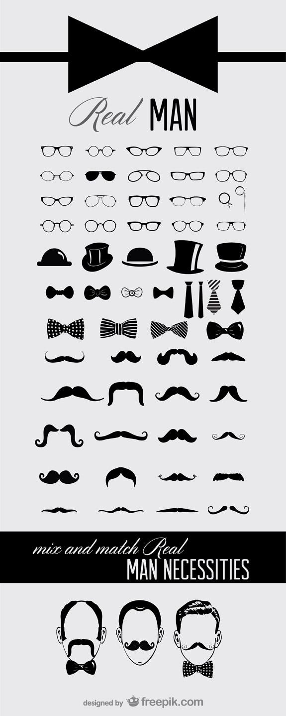 Icones moustaches