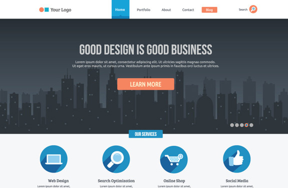 10 psd webdesign gratuits pour vos cr ations webdesigner for Architect website design