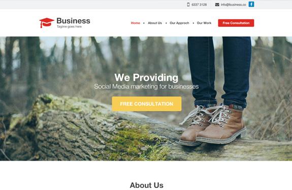 PSD Webdesign