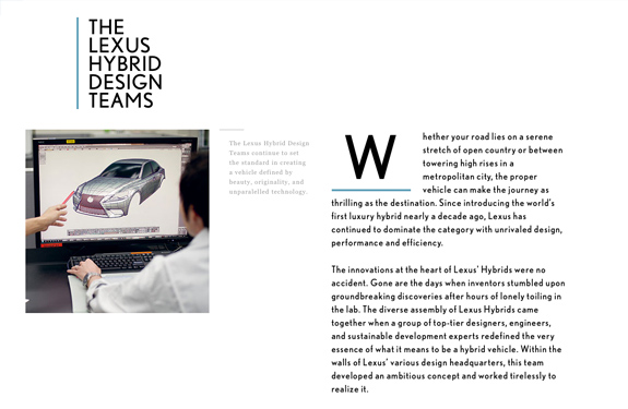 Webdesign corporate magazine