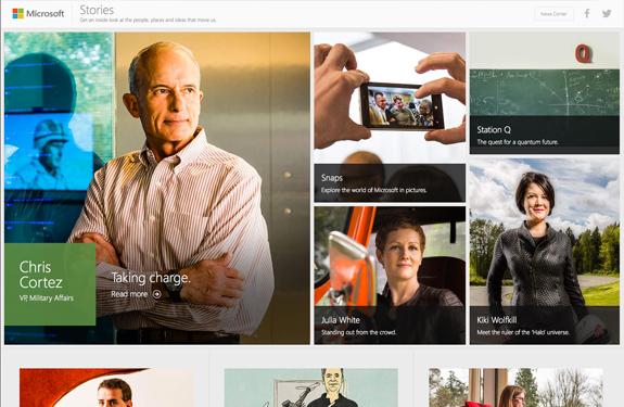 Webdesign corporate magazine