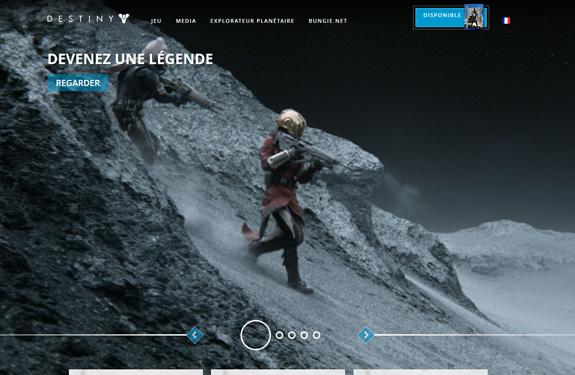 Webdesign jeux vidéo