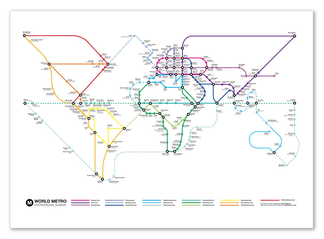International Subway creation originale walleditions