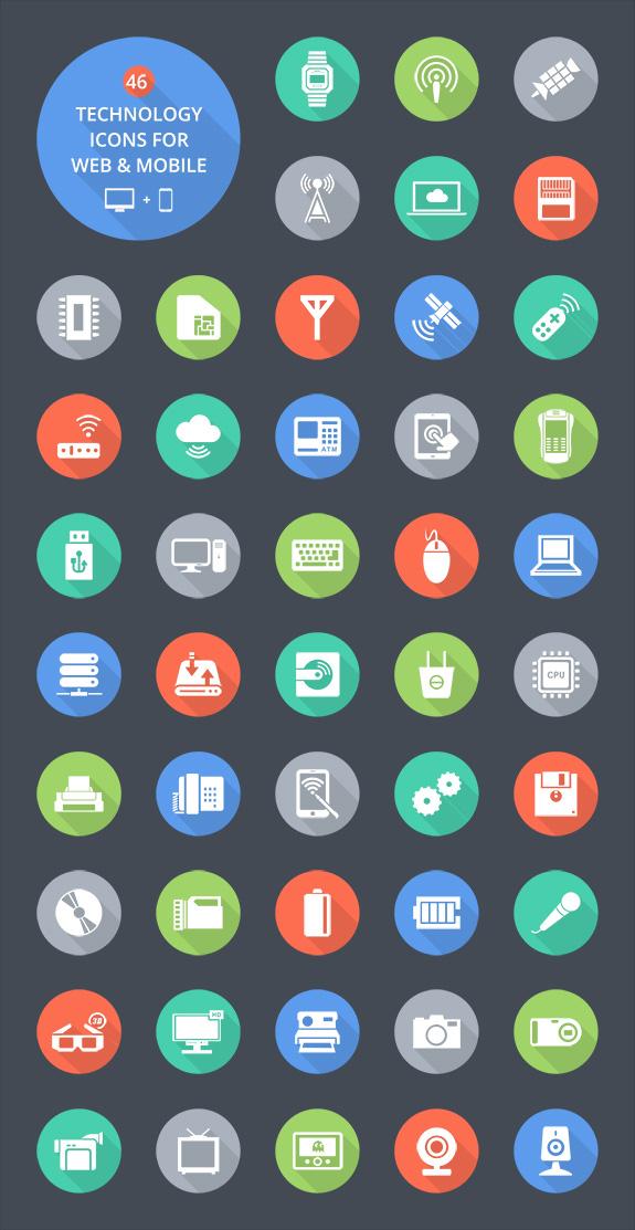 technology-icon-set