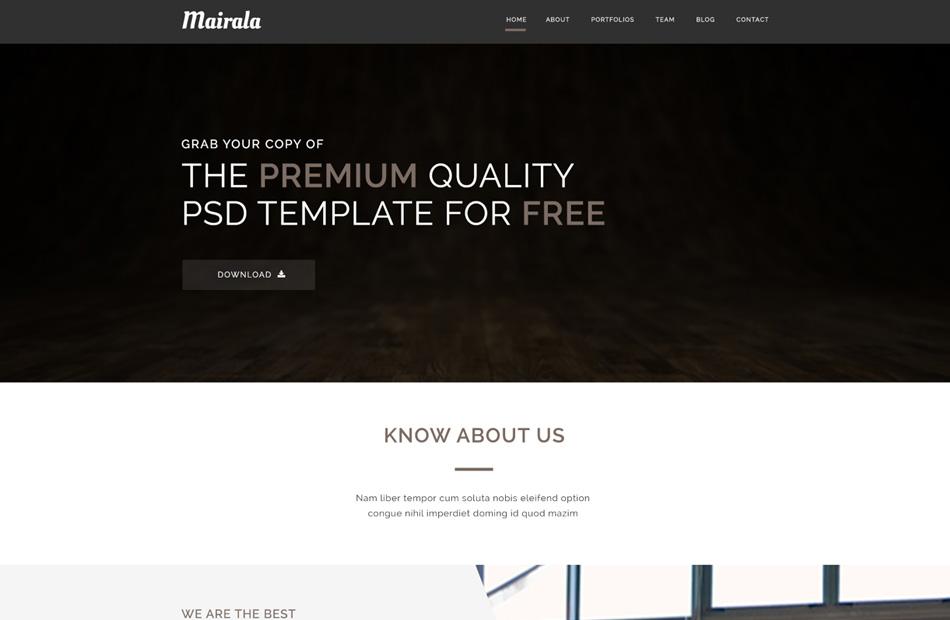 template-psd-gratuit