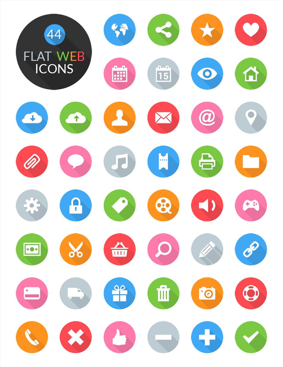 flat-web-icon-set