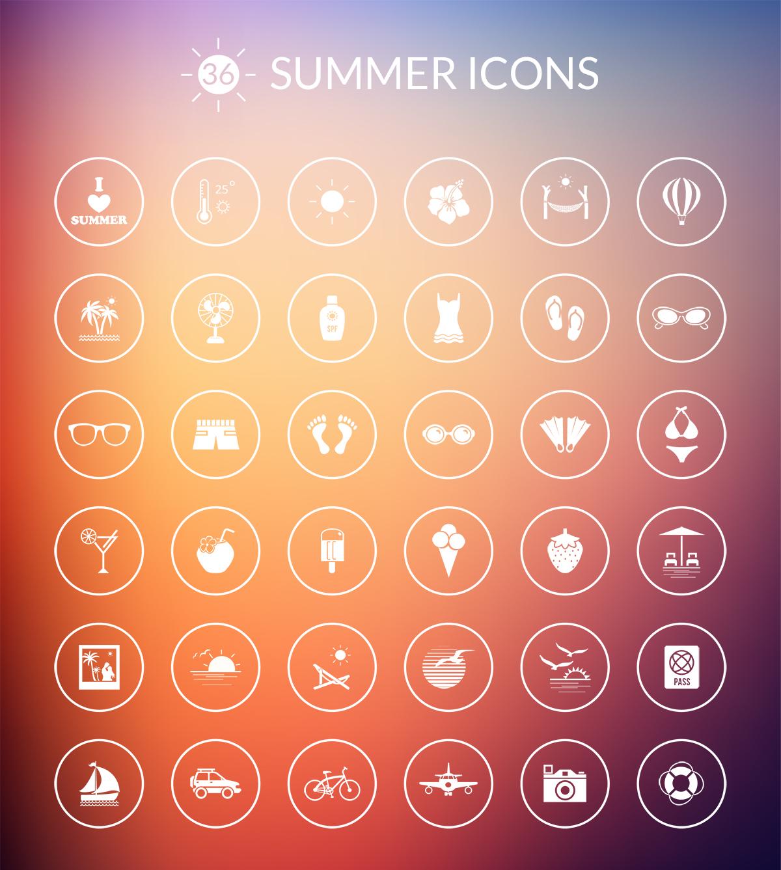 summer-icon-set-webdesignertrends