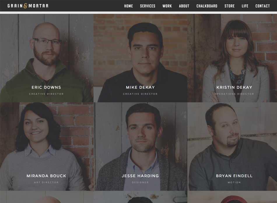 Page à propos webdesign