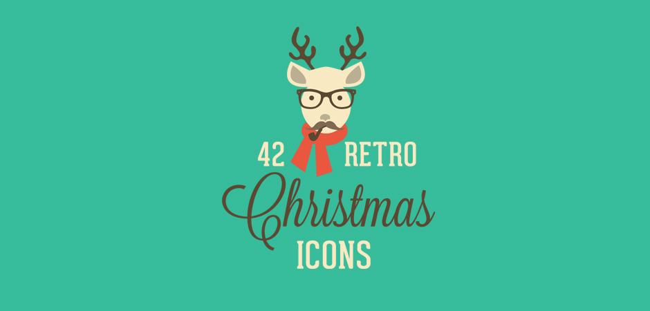 42 Icônes De Noël Retro à Télécharger Gratuitement Webdesigner Trends