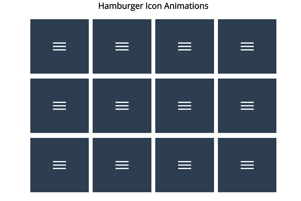 Hamburger Icon Animations