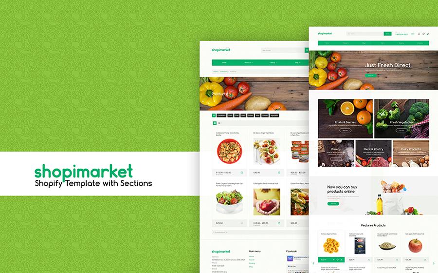 Thème Shopify adaptatif pour magasin d'alimentation