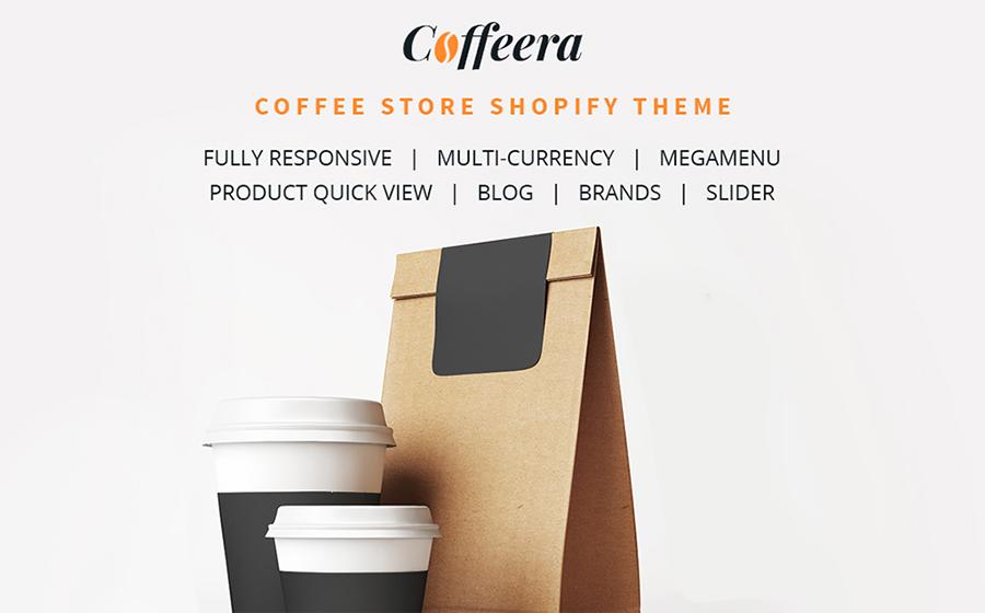 Thème Shopify adaptatif pour magasin de café en ligne