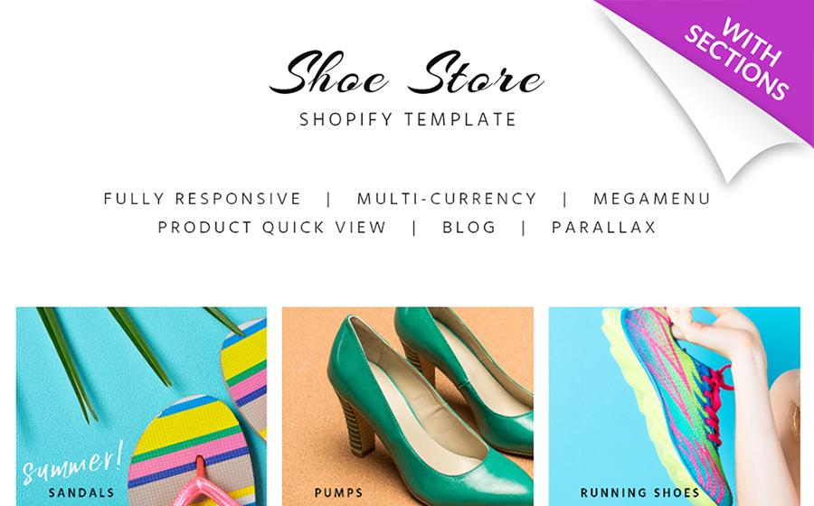 Thème Shopify adaptatif pour magasin de chaussures