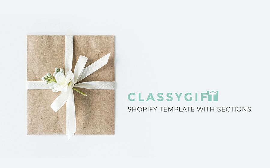 Thème Shopify adaptatif pour magasin de cadeaux