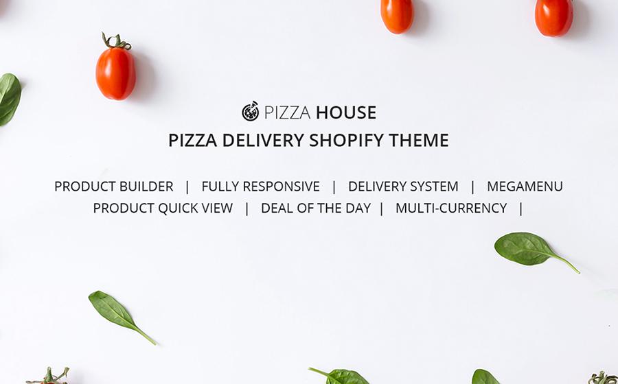 Thème Shopify adaptatif pour service de livraison de nourriture