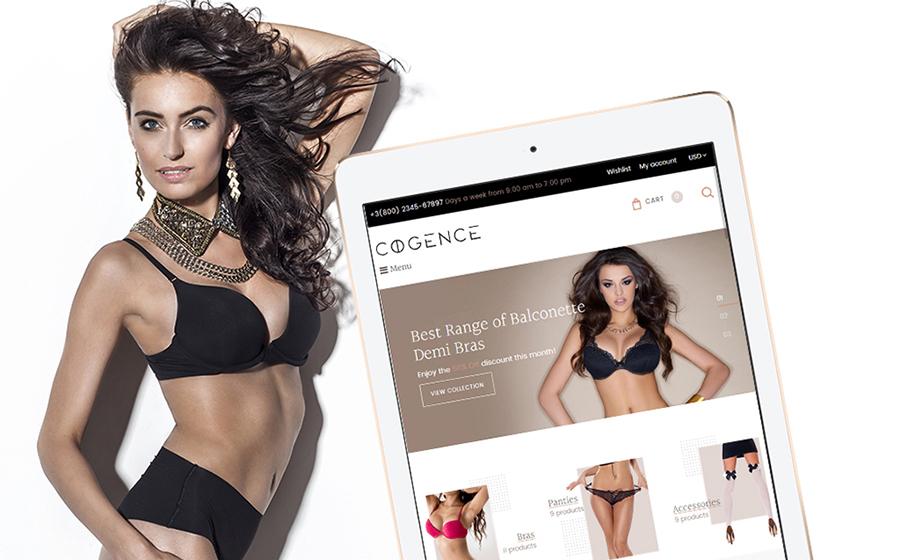 Thème Shopify adaptatif pour magasin de lingerie