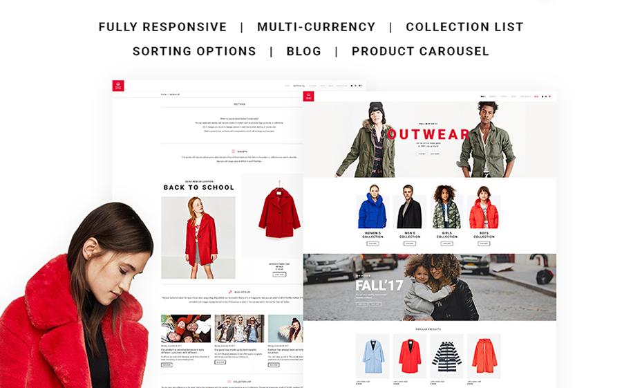 Thème Shopify Vêtements d'extérieur