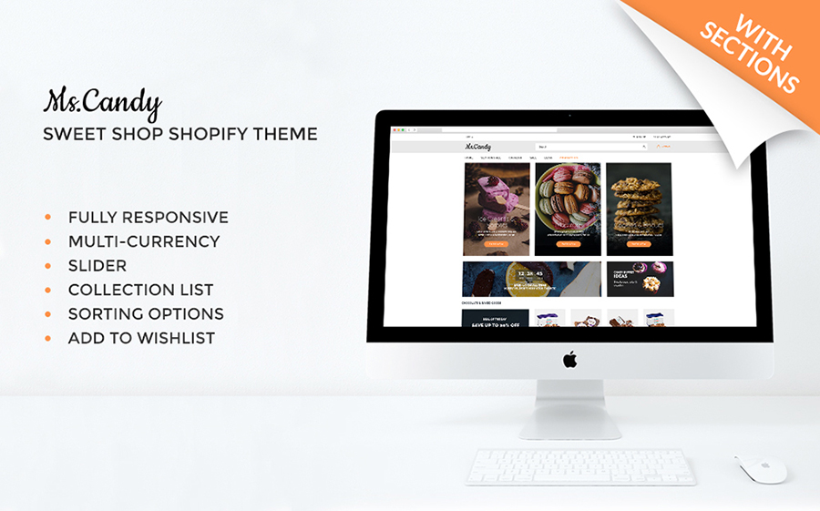 Ms.Candy - Thème Shopify pour magasin en ligne de bonbons délicieux